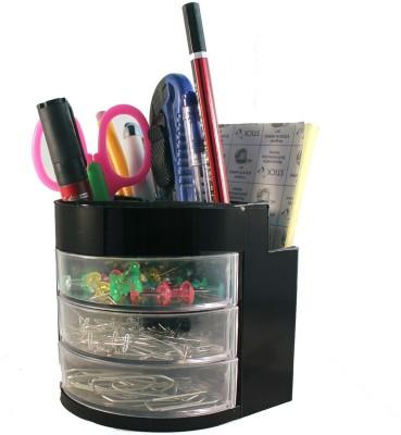 StationeryStation 7 Compartments Plastic Desk Organizer