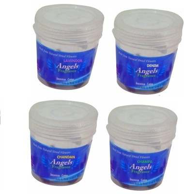 ANGELS FRAGRANCE Lavendor, champa, chandan, Denim Dhoop Cone
