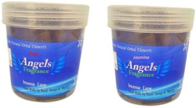 Angels fragrance Rose, Jasmine Dhoop Cone
