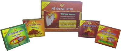 Shri Devrah Baba Combo Set Of Sambrani 12 Cups Filled With Loban / Lobhan + 60 Pc Assorted Incense In 4 Different Pack Dhoop Cone