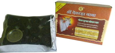 Shri Devrah Baba Natural & Pure Incense Sambrani Cup Filled With Loban / Lobhan - 12 Piece Dhoop Cone
