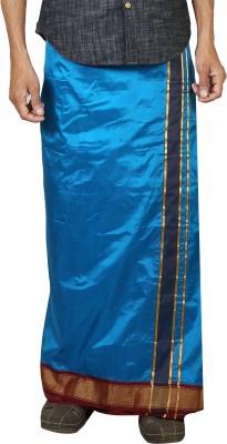 Sethukrishna Pure Silk 9 Kan Set Solid Men's Dhoti