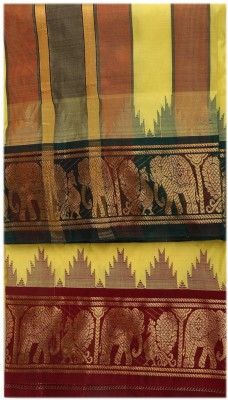 Sethukrishna Pure Silk 4 Inches Jacquard Set Solid Men's Dhoti