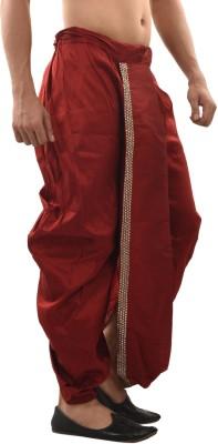 Sanwara Solid, Embroidered Men's Dhoti