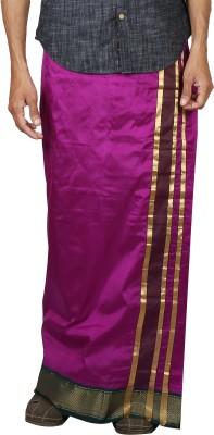 Sethukrishna Pure Silk 13 Kan Set Solid Men's Dhoti