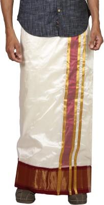 Sethukrishna Pure Silk 21 Kan Set Solid Men's Dhoti
