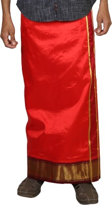 Sethukrishna Pure Silk 16 Kan Set Solid Men's Dhoti