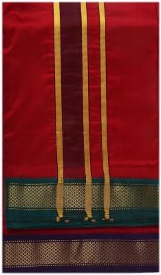 Sethukrishna Pure Silk 7 Kan Set Solid Men's Dhoti
