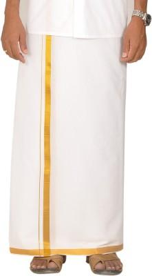 Jansons White Gold Border-3.70 Mtr Solid Men's Dhoti