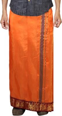 Sethukrishna Pure Silk 3 Inches Jacquard Set Solid Men's Dhoti
