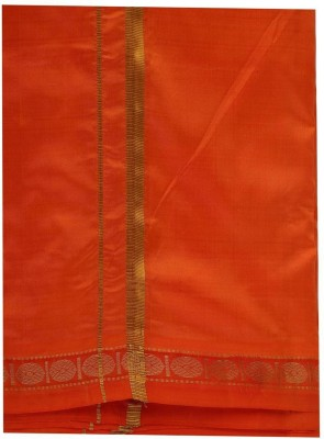 Sethukrishna Pure Silk Rudhracha Set Solid Men's Dhoti