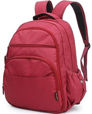 T-Bags Mommy And Baby Red Backpack Diaper Bag