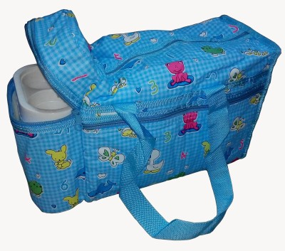 Babyofjoy Toys Cartoon Alphabeat Print Tote Diaper Bag and Bottle Warmer Attached