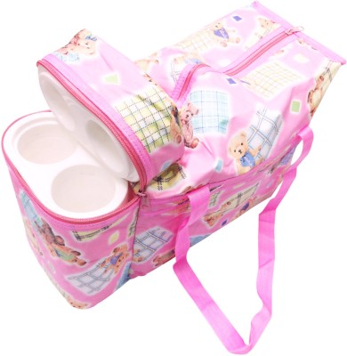 Ole Baby Premium Multi Purpose Teddy Print with Warmer Tote Diaper Bag