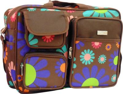 1st Step Flower Print Messenger Diaper Bag
