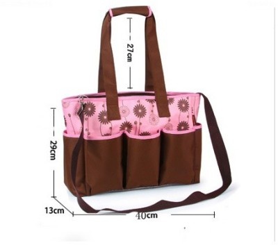 T-Bags Mommy and Baby Brown And Pink Messanger Diaper Bag