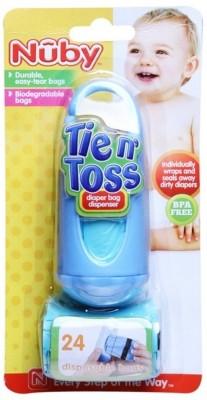 Nuby Tie n Toss Dirty Diaper Bag Dispenser Disposable Diaper Bag