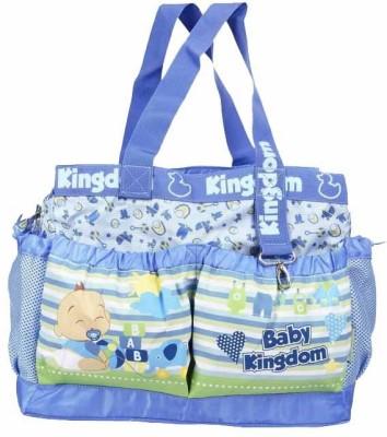 Wishkey Premiun Blue Large Printed Nursery Bag
