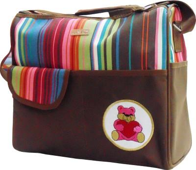 1st Step Stripe Messenger Diaper Bag