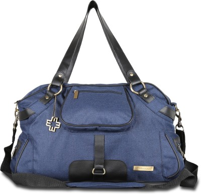 My Milestones Studio Messenger Denim Blue Diaper Bag