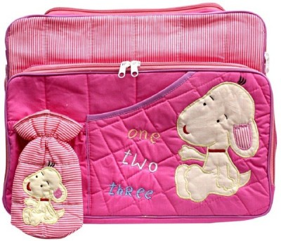 Kidzvilla Mother-Multi Utility Pink Color Diaper bag