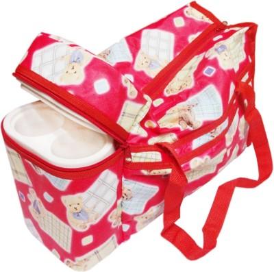 Ole Baby Premium Multi Purpose Teddy Bear Print with Warmer Tote Diaper Bag