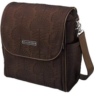 Petunia Pickle Bottom Embossed Boxy Backpack Diaper Bag(Brown)