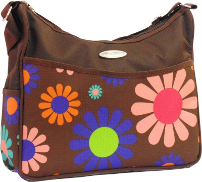 1st Step Flower Print Messenger Diaper Bag