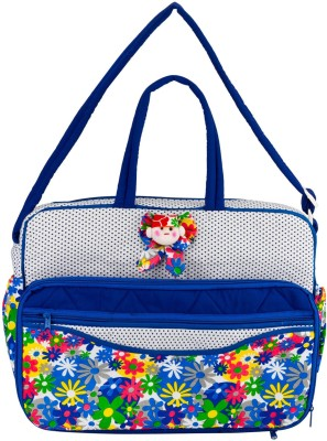 Bfly Chubbies Women Casual Blue Cotton Sling Bag