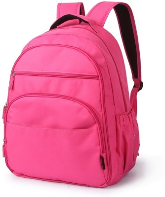 T-Bags Mommy And Baby Hot Pink Backpack Diaper Bag