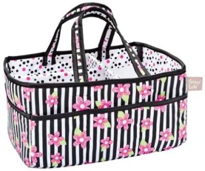 Trend Lab Zahara Stripe Storage Caddy Tote Diaper Bag