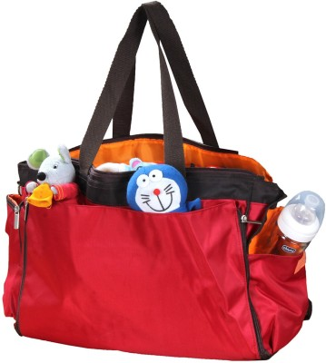 PRETTY KRAFTS Mother's Red Color Diaper Bag
