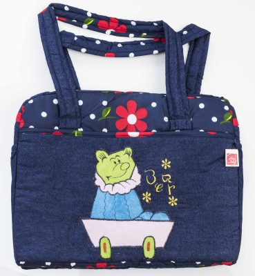 Love Baby Denim Cartoon Diaper Bag