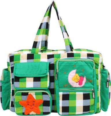 GoAppuGo Green Checks Mother Baby Diaper bag