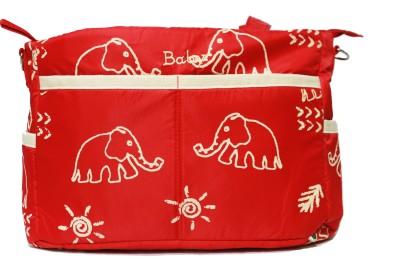 Kiwi Elephant Print Shoulder Diaper Bag