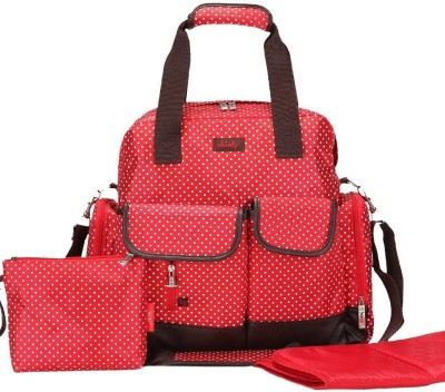 Baby Bucket Large Dots Tote Backpack Shoulder Bag 3 Carrying Ways High Qulity Diaper Bag