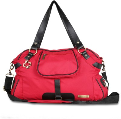 My Milestones Studio Messenger Poppy Red Diaper Bag