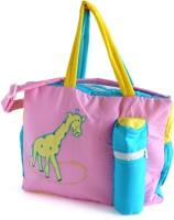 Duck Girrafe Messenger Diaper Bag(Pink, Blue)