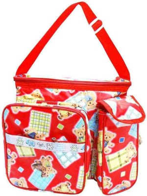 Wishkey Premium Teddy Bear Printed Red Nursery Bag