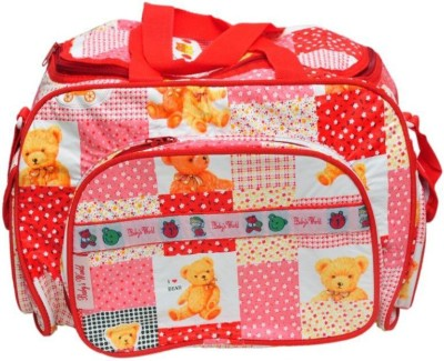 Baby`S World RED COLORED Outing Mama Baby Bag BABY CARE DIAPER BAG