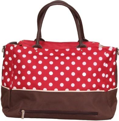 PRETTY KRAFTS Red Polka Dots Mother Baby Shoulder Diaper & Organizer Bag