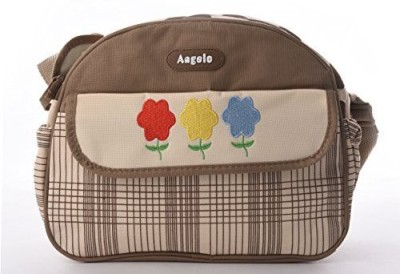 Baby Bucket Round Multiutility Flower Embroidered Diaper Bag