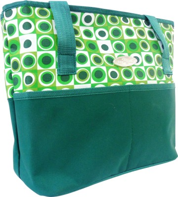 1st Step Dot Gr/Bl Messenger Diaper Bag
