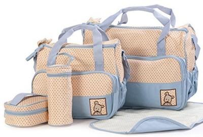 Baby Bucket Baby Bucket 5pcs/set Baby Diaper Bag Nappy Mummy Bag Print Maternity Handbag Changing Baby Messenger Bag Diaper Beg