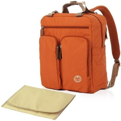 T-Bags Mommy and Baby Premium Orange Backpack Diaper Bag