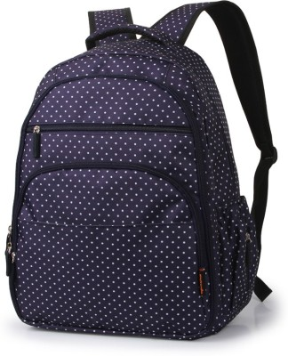 T-Bags Mommy And Baby Dark Blue Backpack Diaper Bag