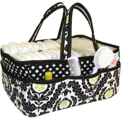 Trend Lab Waverly Rise and Shine Diaper Caddy Diaper caddy(Black, White)