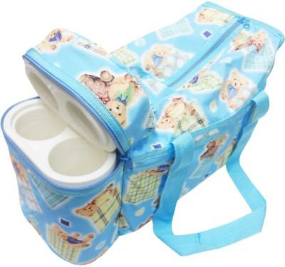 Ole Baby Premium Multi Purpose Cute Teddy Print with Warmer Tote Diaper Bag
