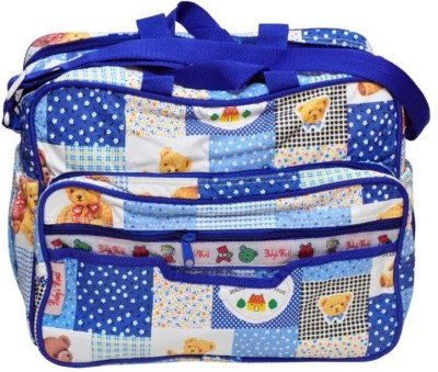 BABY`S WORLD BABY`S WORLD BLUE ZIPPERED BABY BAG BABY CARE / DIAPER BAG