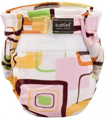 Kushies Ultra-Lite Diaper Pink Groovey Squares - Infant